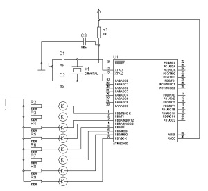 Led blinking program with ATMEGA32 and AVR Studio 5.0